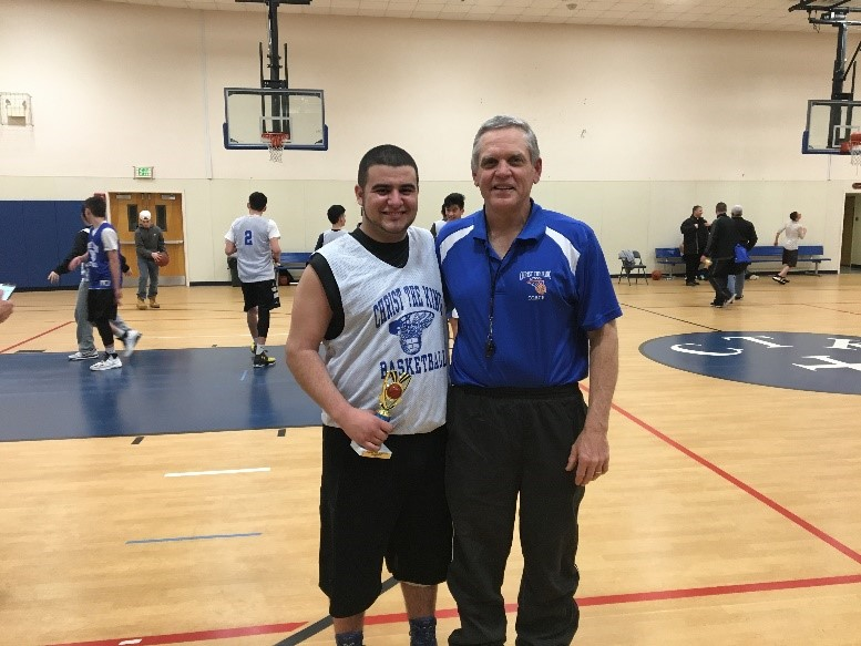 Senior Chris Crispino and Coach Newman ~ Apr 2017
