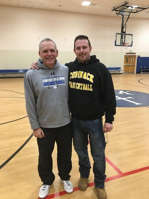 Coach Newman and Coach Moran ~ Apr 2017